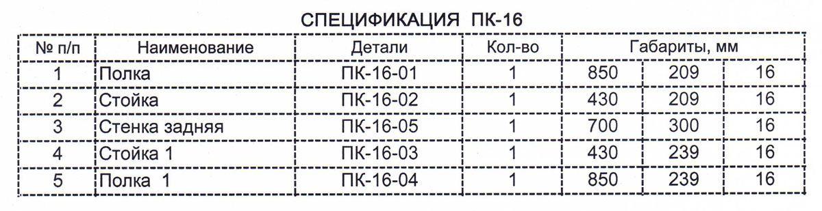 Схема сборки. ПК-16
